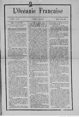 L'Océanie française du 17 juillet 1883