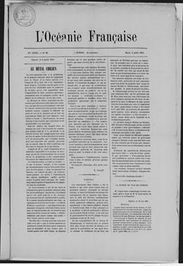 L'Océanie française du 8 juillet 1884