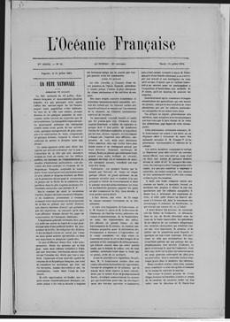 L'Océanie française du 15 juillet 1884