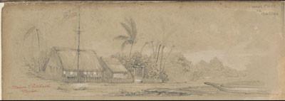 Maison de George Pritchard – Dessin de C.C. Antiq (1847)