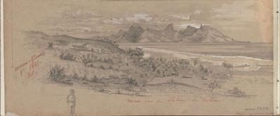 Moorea – Dessin de C.C. Antiq (1845)