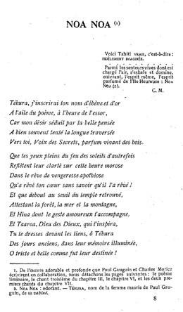 Noa noa – Poème (1906)