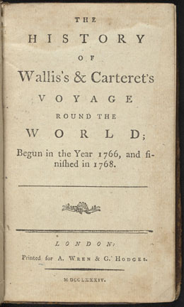 The history of Wallis's & Carteret's voyage round the world (1784)