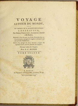 Voyage au tour du monde sur le vaisseau de sa Majesté britannique l'Endeavour par Sidney Parkinson – Tome II