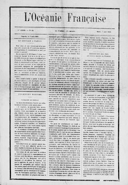 L'Océanie française du 7 août 1883