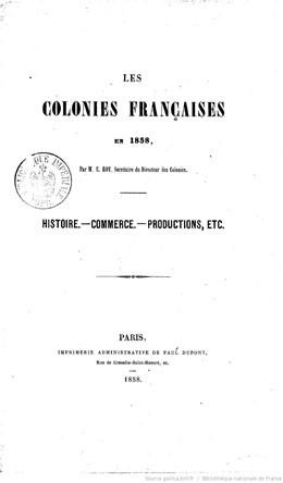 Les colonies françaises en 1858 – Tahiti & les Marquises (1858)