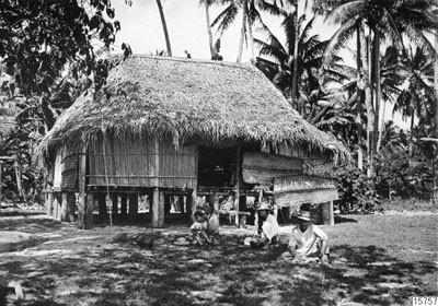 Hutte indigène typique – Tahiti (1920)