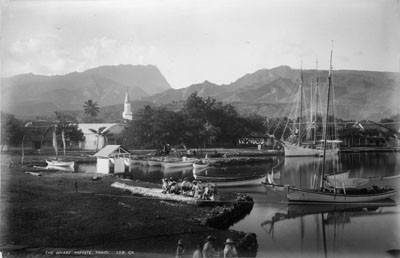 Port de Papeete, Tahiti par George Dobson Valentine (1887)
