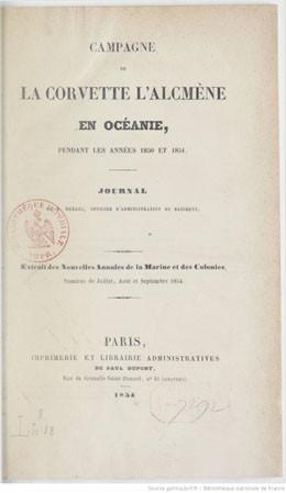 Campagne de la Corvette l'Alcmène en Océanie (1854)