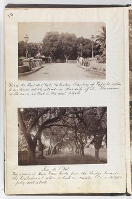 Pont de l'est et rue de l'est – Reminiscences of Tahiti – Society Islands – during a six week's visit (1887)