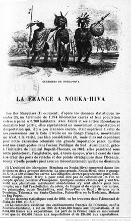 La France à Nouka Hiva (1898)