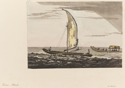 Canoes – Otaheite par William Hodges (1772-1775)