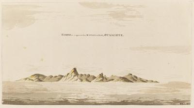 Eimeo (Moorea) depuis la baie de Matavai (1772-1775)