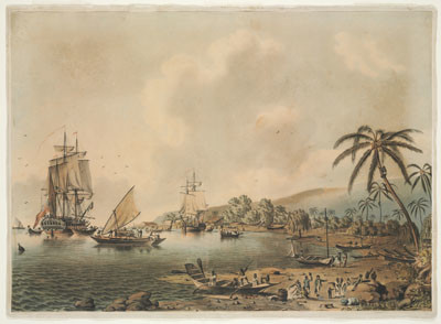 HMS Resolution et Discovery à Tahiti (1787)