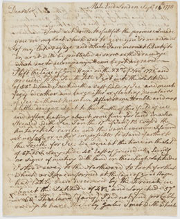 Lettre de James Cook au capitaine John Walker (1775)
