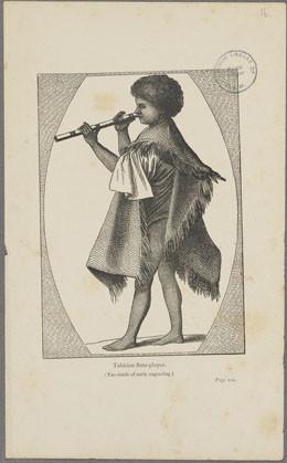 Joueur de flûte tahitien