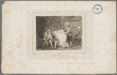Lapeyrouse recevant de Louis XVI l'itinéraire de son voyage (1785)