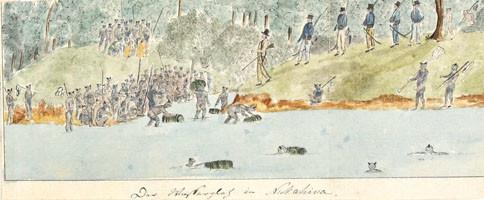 Värske vee varumine – Approvisionnement en eau à Nuku Hiva (1803/1806)