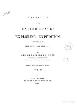 Narrative of the United States Exploring Expedition during year 1838-1842 – Volume II