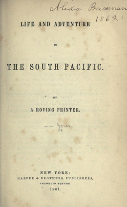 Life and adventure in the south Pacific (1861)