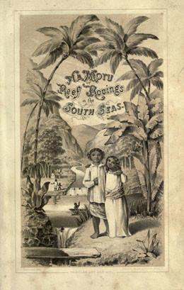 Tahitian Boy and Girl (Couverture de Na Motu) – Edward T. Perkins (1854)