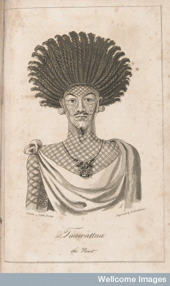 Taawattaa le prêtre de l'île Madisson – Nuku Hiva (1815)