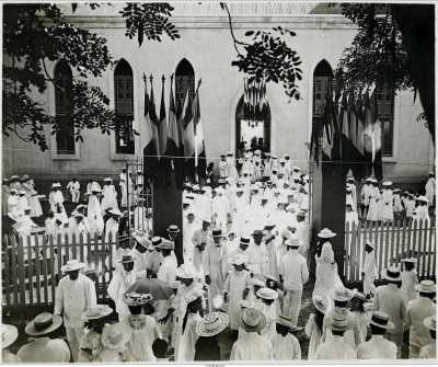 Inauguration du temple de Paofai à Papeete le 7 juin 1908