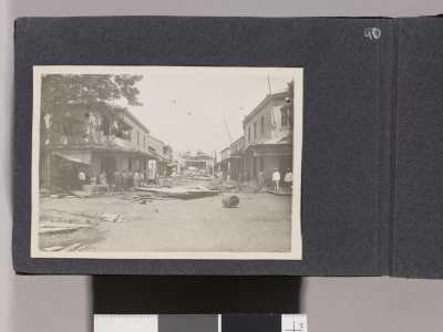 Cyclone et raz de marée sur Papeete du 7 février 1906 – Album photos de Jack London