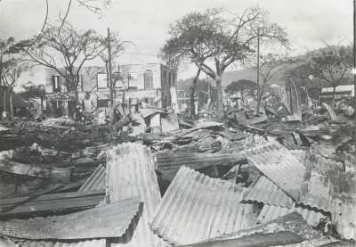 Papeete après le bombardement du 22 septembre 1914
