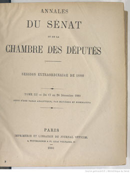 Annexes 204 & 205 – Sénat – Rapport sur le projet de loi portant ratification de la cession faite à la France par Sa Majesté Pomaré V (1880)