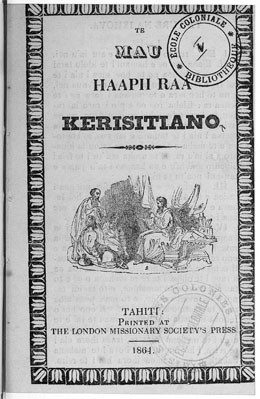 Te mau haapii raa kerisitiano (1864)