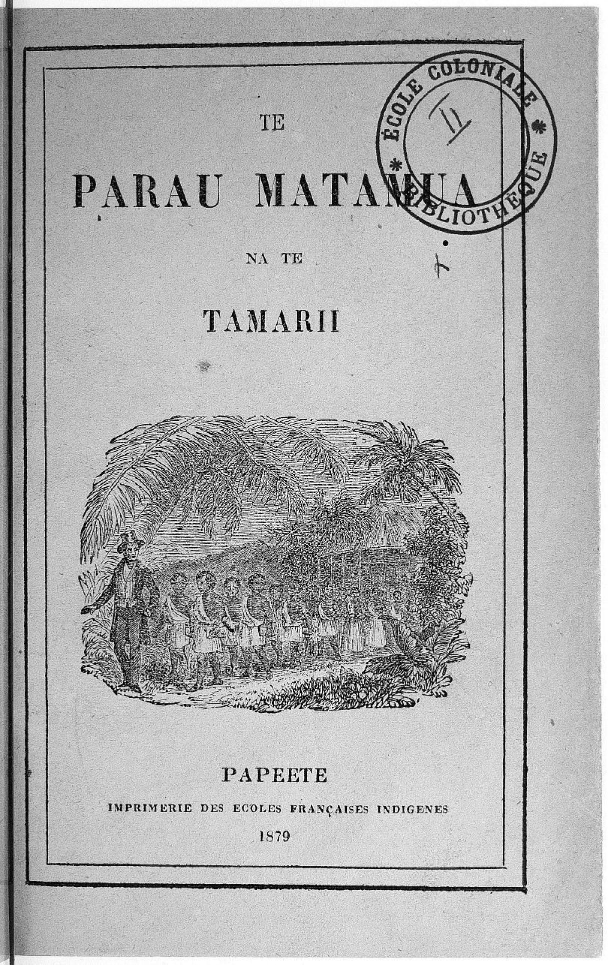 Te parau matamua na te tamarii (1879)
