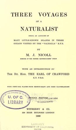"""Les trois voyages d'un naturaliste avec le """"Valhalla"""" RYS (1909)"""