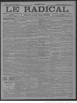 Le Radical – Nos chroniques : Les îles Sous-le-Vent (1888)