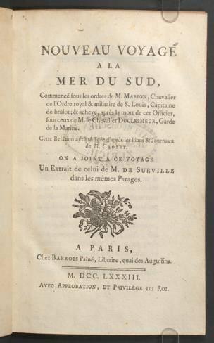 Nouveau voyage à la mer du Sud (1783)