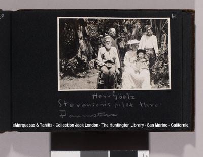 Georges Henri Goltz – Pilote de Robert Louis Stevenson aux Tuamotu – Collection Jack London (1908)