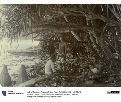 Porteur de bananes à Tiarei – Arthur Baessler (1896)