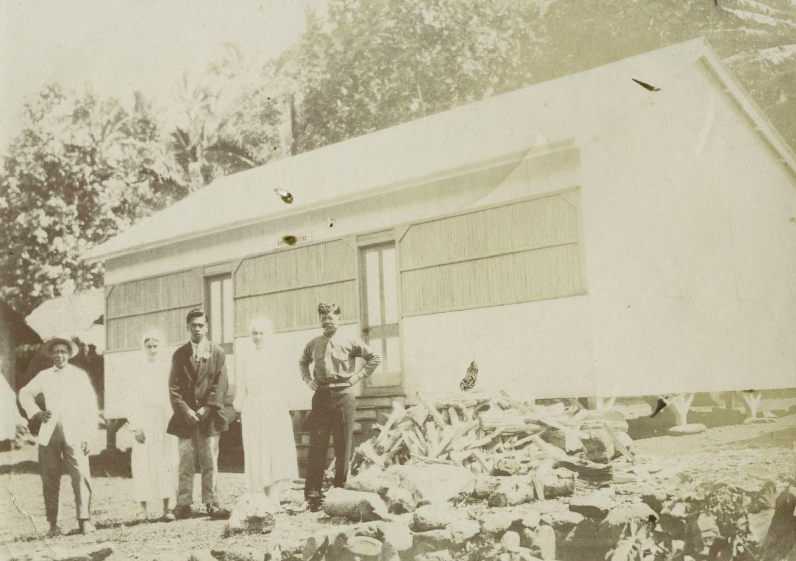 Maison commune du village des lépreux d'Orofara à Mahina (1924/1927)