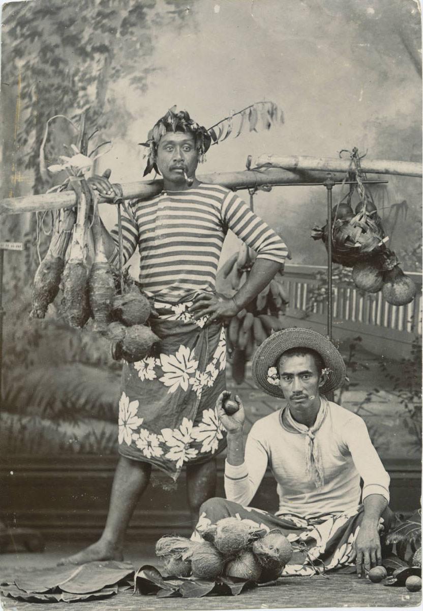 Deux Polynésiens (1885/1900)