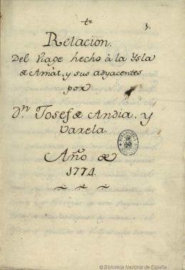 Voyage de José de Andia y Varela (1774)