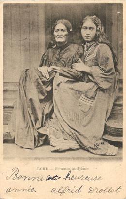 Femmes de Tahiti – Carte postale (1895)