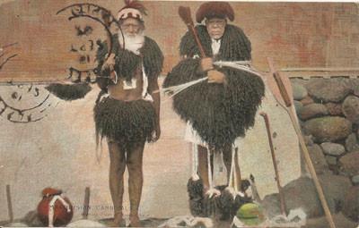Cannibales Marquisiens. Habits de cheveux humains (1895)