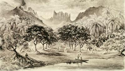 Vallée de la Fautaua & Diadème (1882)