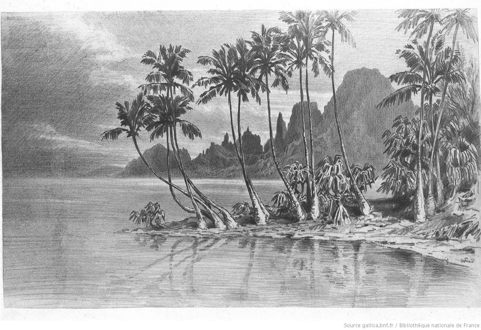 District d'Afareahitu, île de Moorea - Pierre Loti (1872) - Médiathèque  Historique de Polynésie Française - MHP