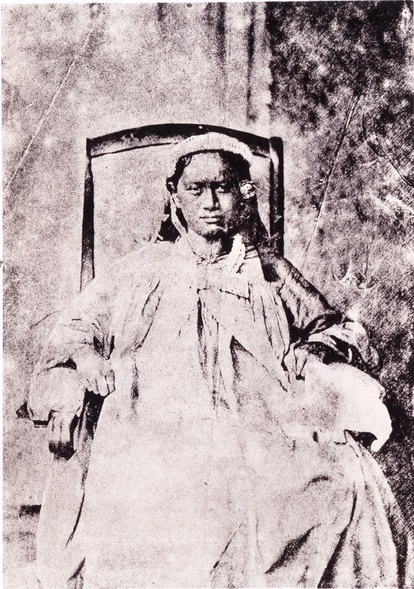 Portrait de Teriimaevarua, Reine de Bora Bora – Gustave Viaud (1860)