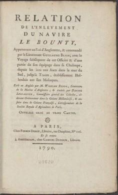 Relation de l'enlèvement du navire le Bounty (1790)