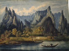 Opoa, île de Raiatea par Daniel Tyerman (1822)