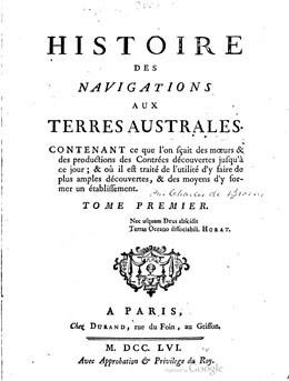 Histoire des navigations aux Terres australes – Volume I