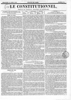 Pièces relatives aux affaires de Taïti – Le constitutionnel (1844)