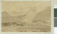 L'Orohena depuis la pointe Vénus (1854)